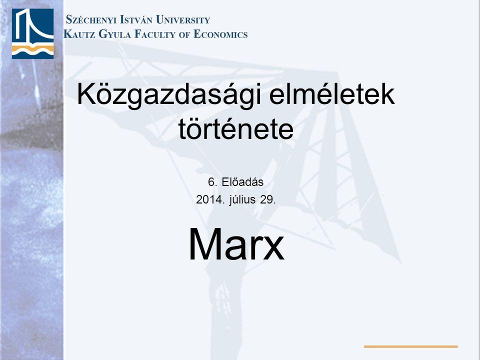 Közgazdasági elméletek története