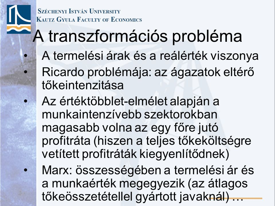 A transzformációs probléma