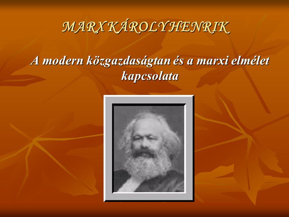 A modern közgazdaságtan és a marxi elmélet kapcsolata