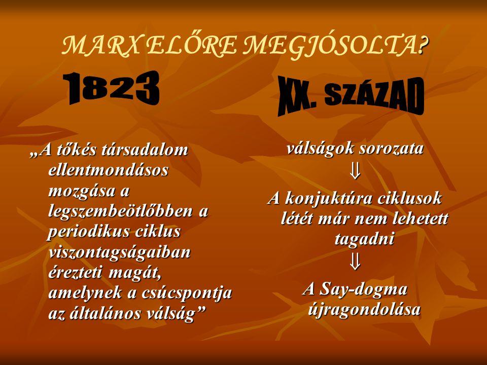 MARX ELŐRE MEGJÓSOLTA 1823 XX. SZÁZAD