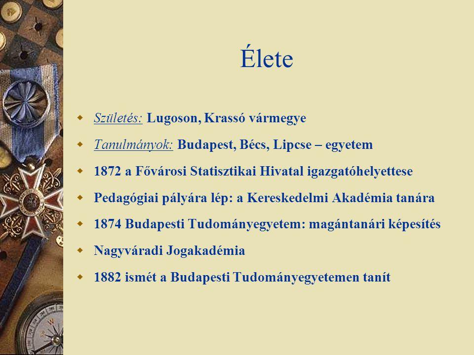 Élete Születés: Lugoson, Krassó vármegye