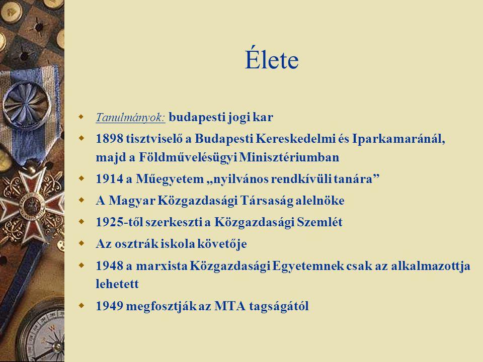 Élete Tanulmányok: budapesti jogi kar. 1898 tisztviselő a Budapesti Kereskedelmi és Iparkamaránál, majd a Földművelésügyi Minisztériumban.