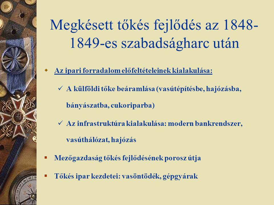 Megkésett tőkés fejlődés az 1848-1849-es szabadságharc után