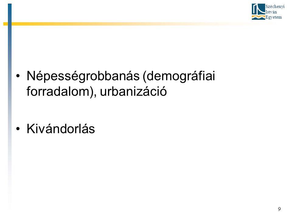 Népességrobbanás (demográfiai forradalom), urbanizáció