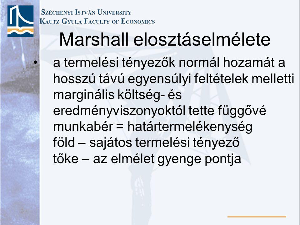 Marshall elosztáselmélete