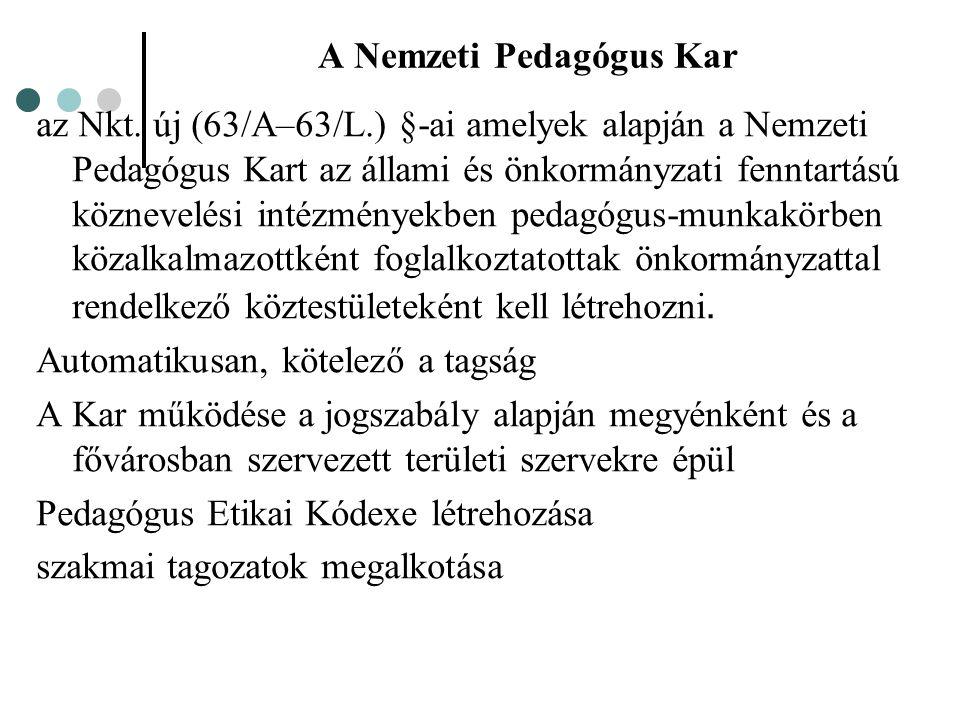 A Nemzeti Pedagógus Kar