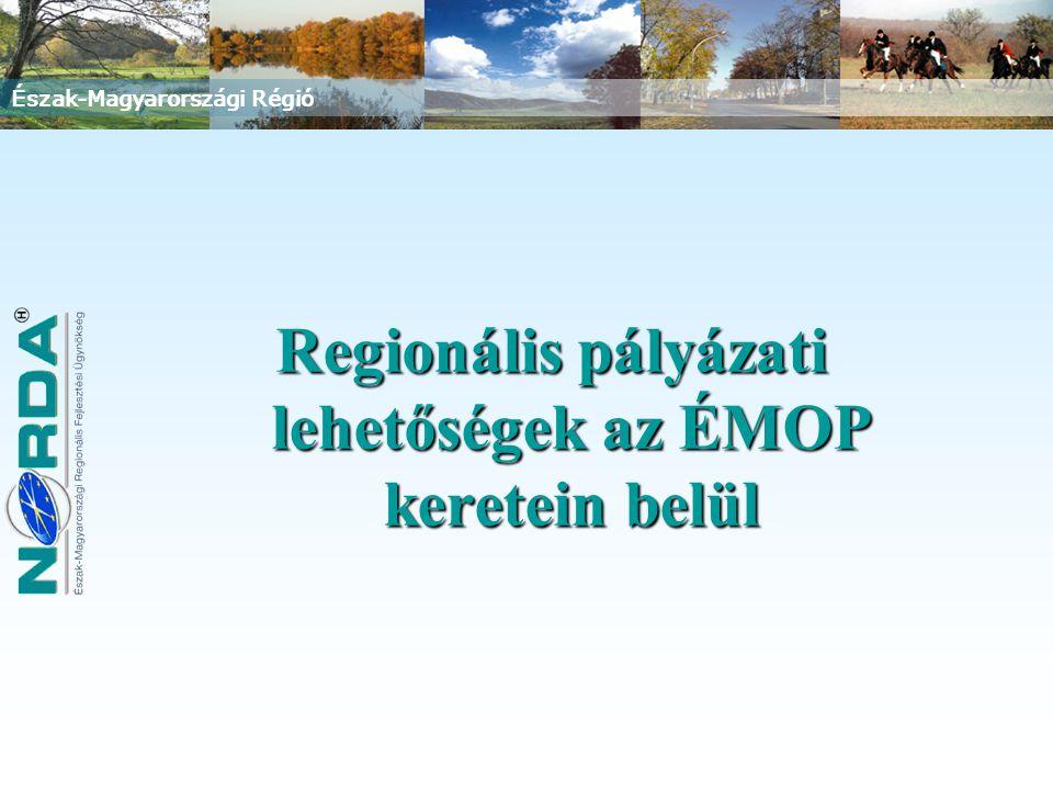 Regionális pályázati lehetőségek az ÉMOP keretein belül