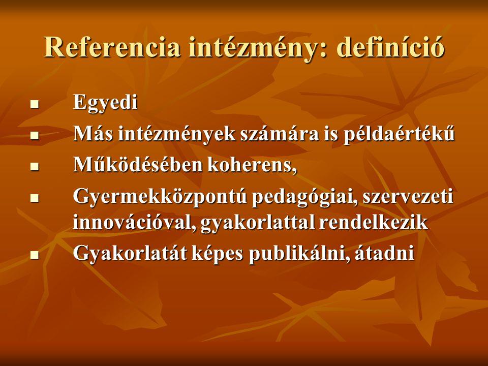 Referencia intézmény: definíció