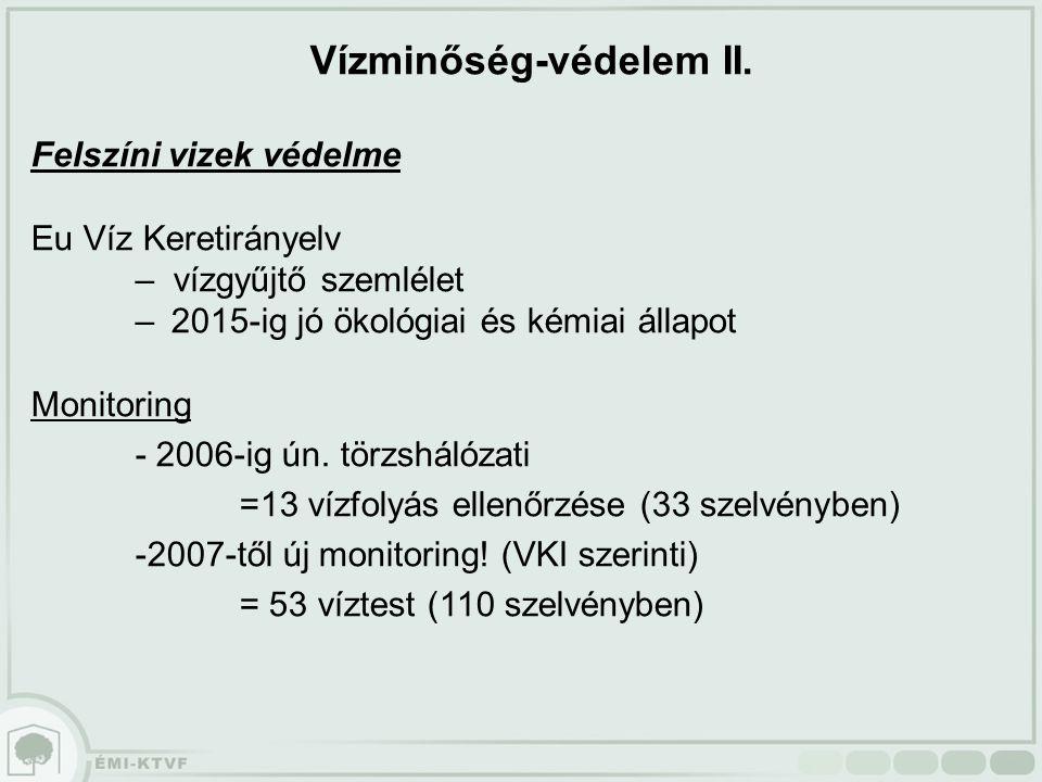 Vízminőség-védelem II.