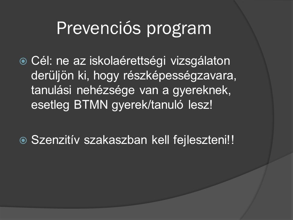 Prevenciós program