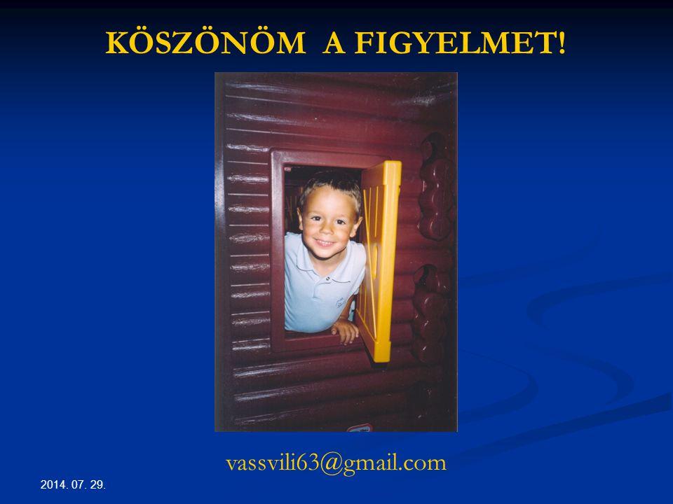 KÖSZÖNÖM A FIGYELMET! vassvili63@gmail.com 2017.04.04.