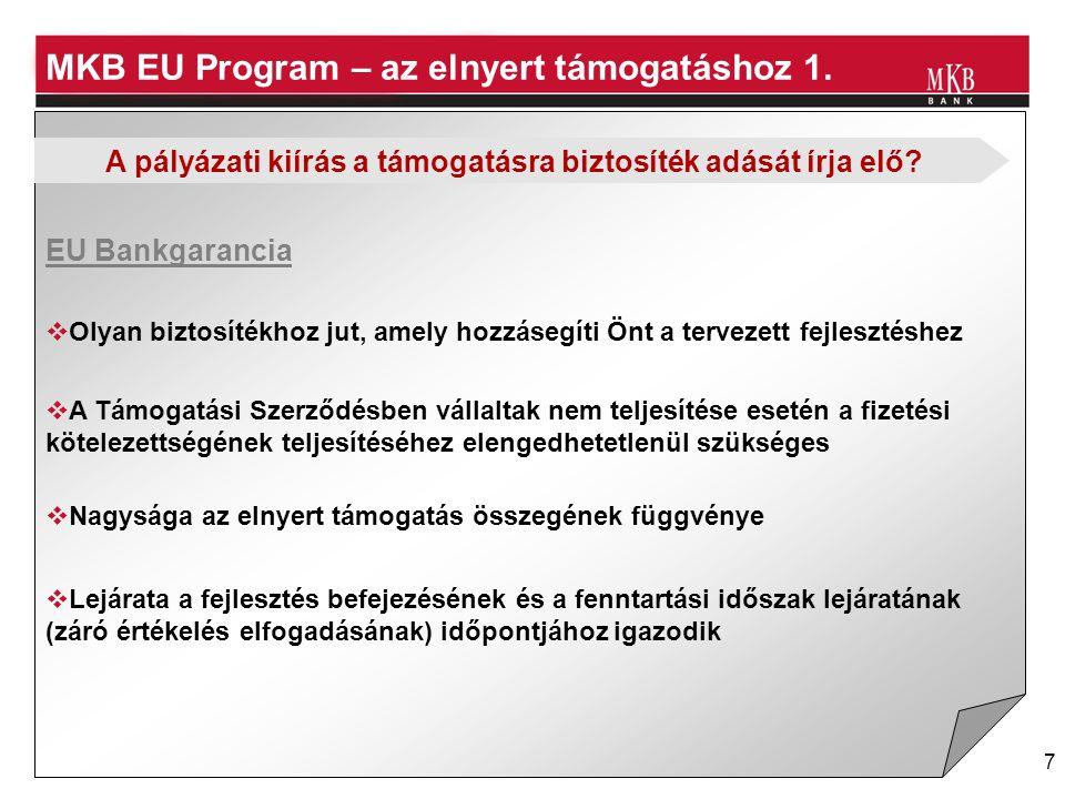 MKB EU Program – az elnyert támogatáshoz 1.