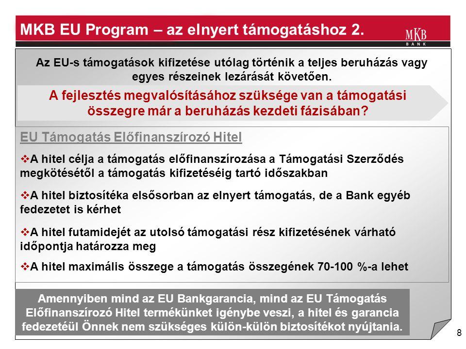 MKB EU Program – az elnyert támogatáshoz 2.