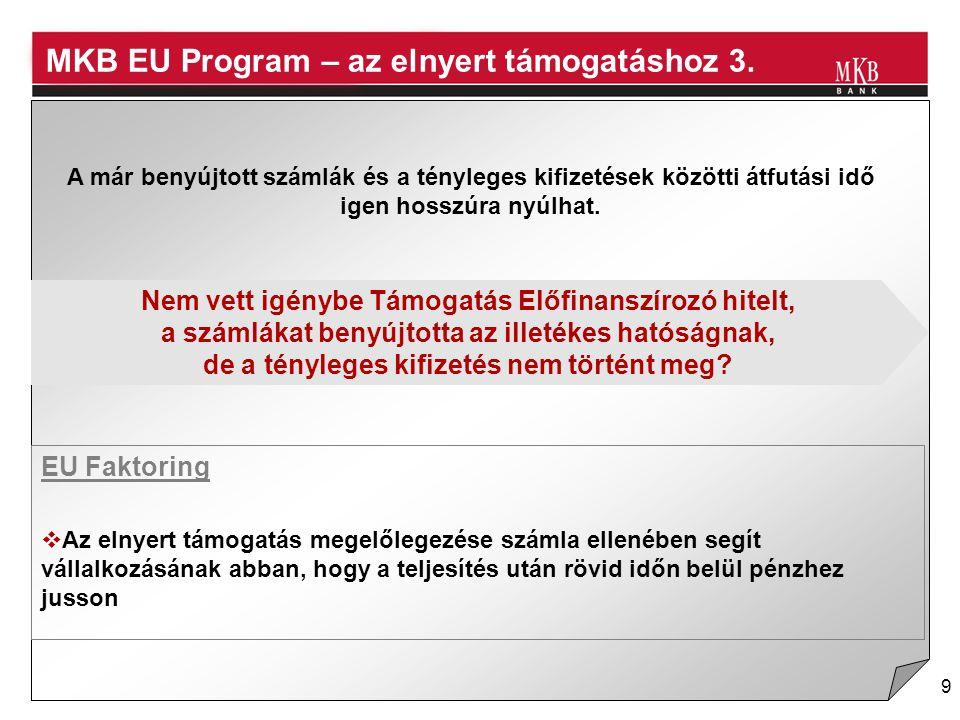 MKB EU Program – az elnyert támogatáshoz 3.