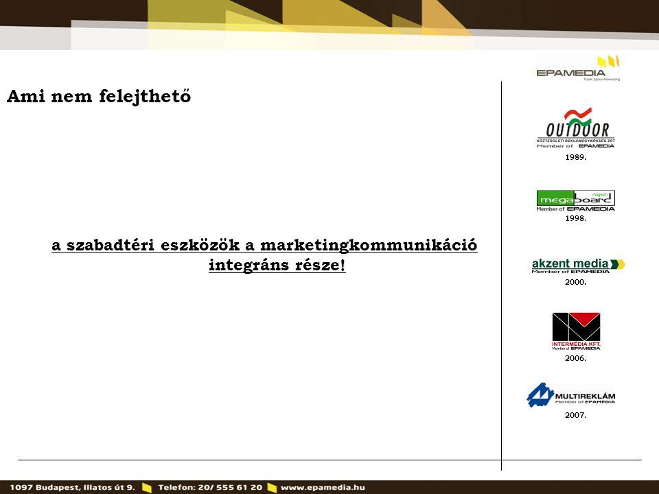 a szabadtéri eszközök a marketingkommunikáció integráns része!