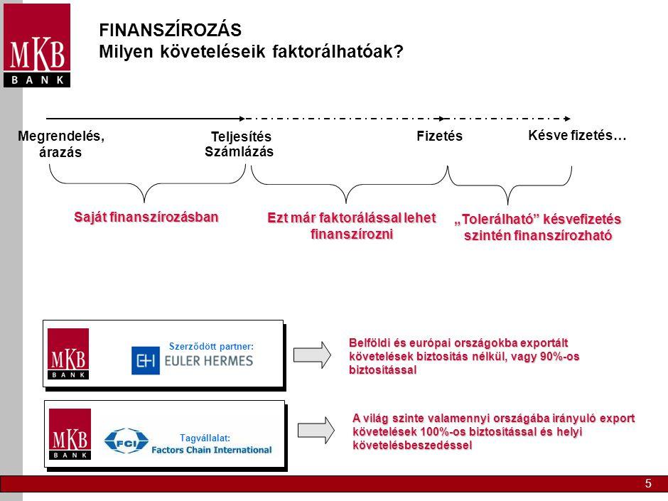 Vevőkövetelések nyilvántartása a Bank feladata