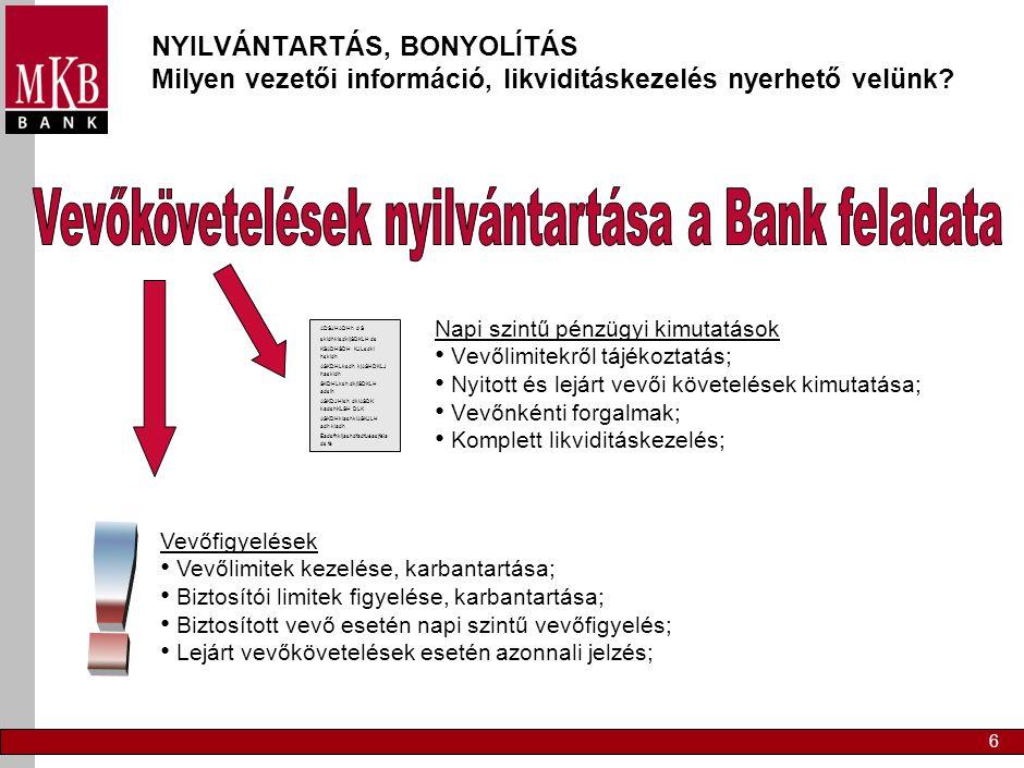KÖVETELÉSBEHAJTÁS Miben tud segíteni az MKB Bank faktoring Önnek