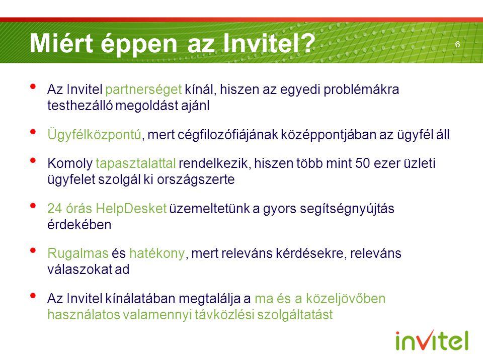 Miért éppen az Invitel Az Invitel partnerséget kínál, hiszen az egyedi problémákra testhezálló megoldást ajánl.