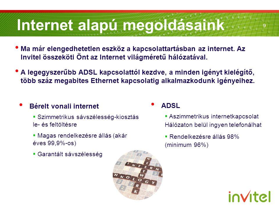 Internet alapú megoldásaink
