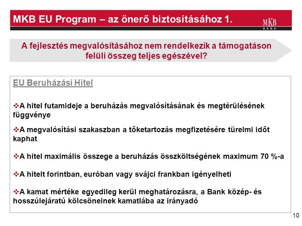 MKB EU Program – az önerő biztosításához 1.