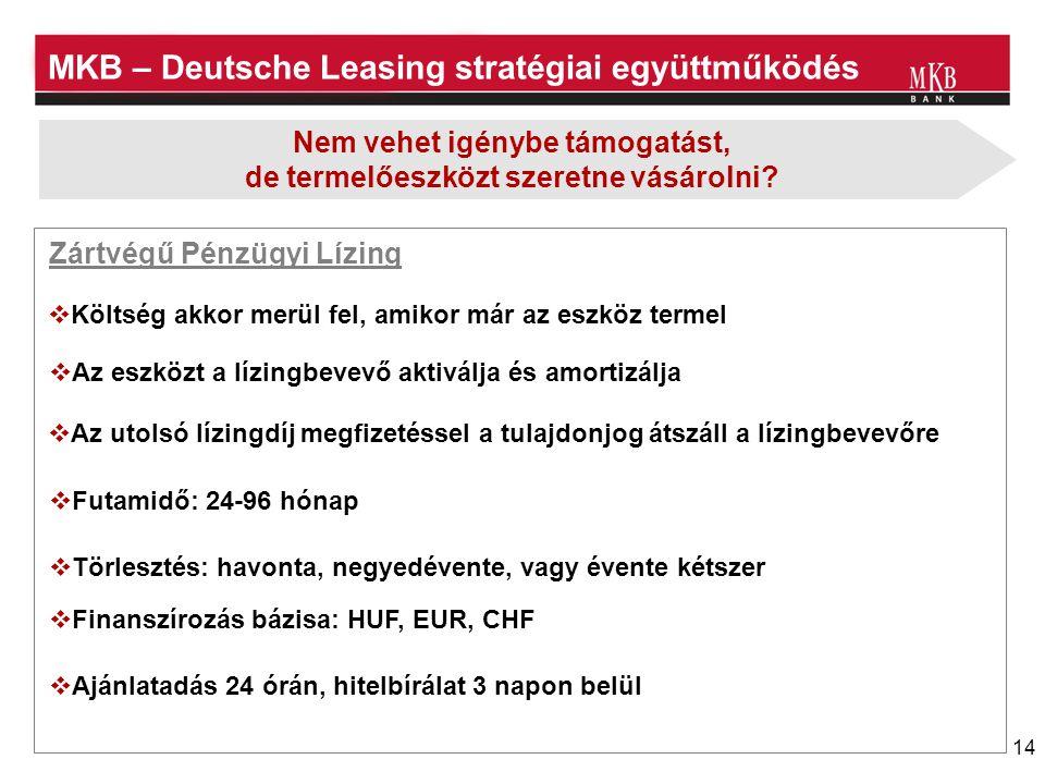 MKB – Deutsche Leasing stratégiai együttműködés
