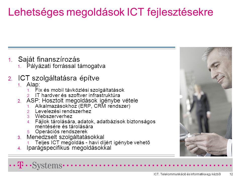 Lehetséges megoldások ICT fejlesztésekre