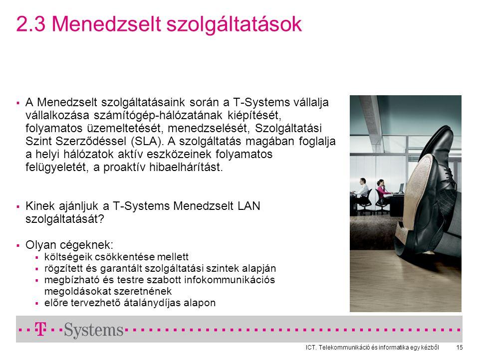 2.3 Menedzselt szolgáltatások