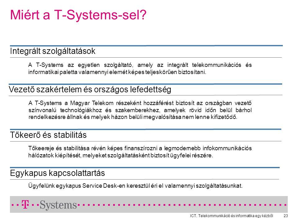 Miért a T-Systems-sel Integrált szolgáltatások