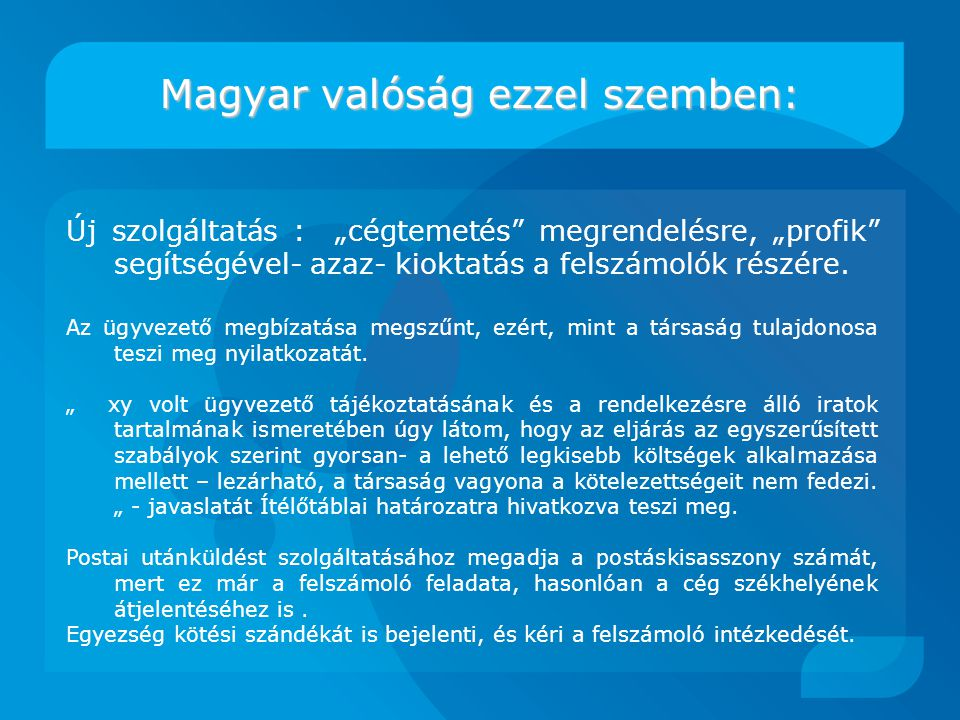 Magyar valóság ezzel szemben: