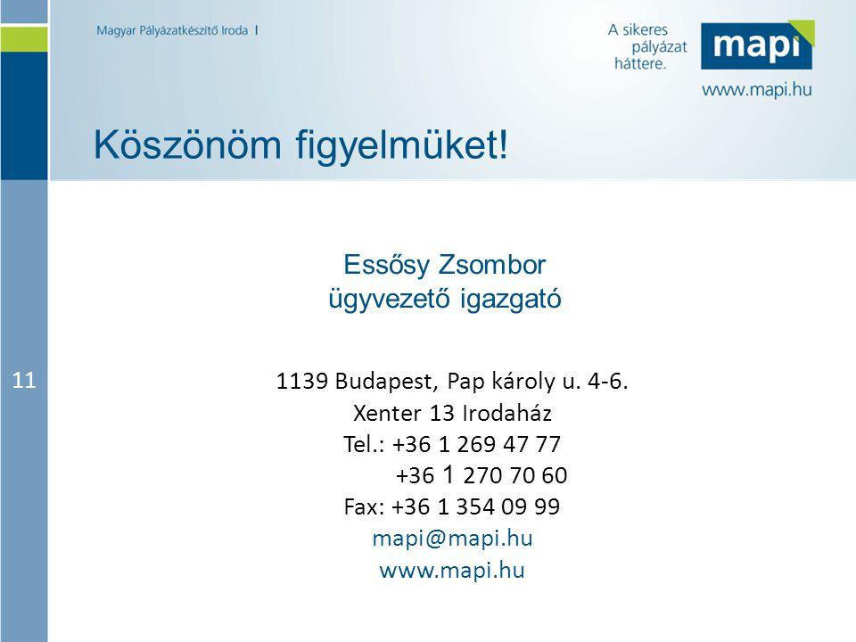 Essősy Zsombor ügyvezető igazgató