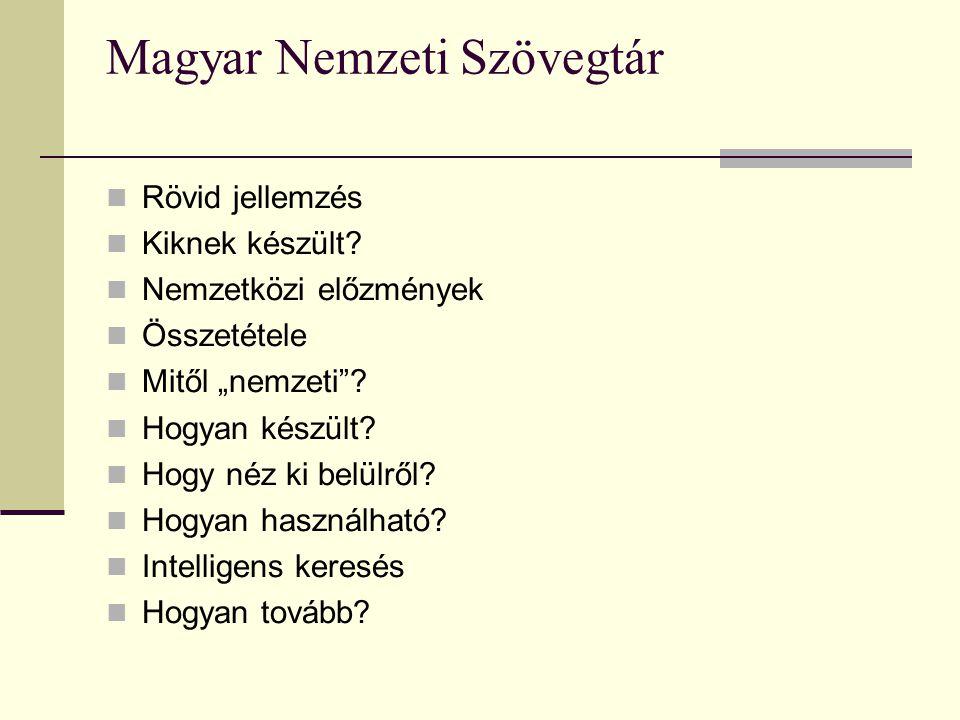 Magyar Nemzeti Szövegtár