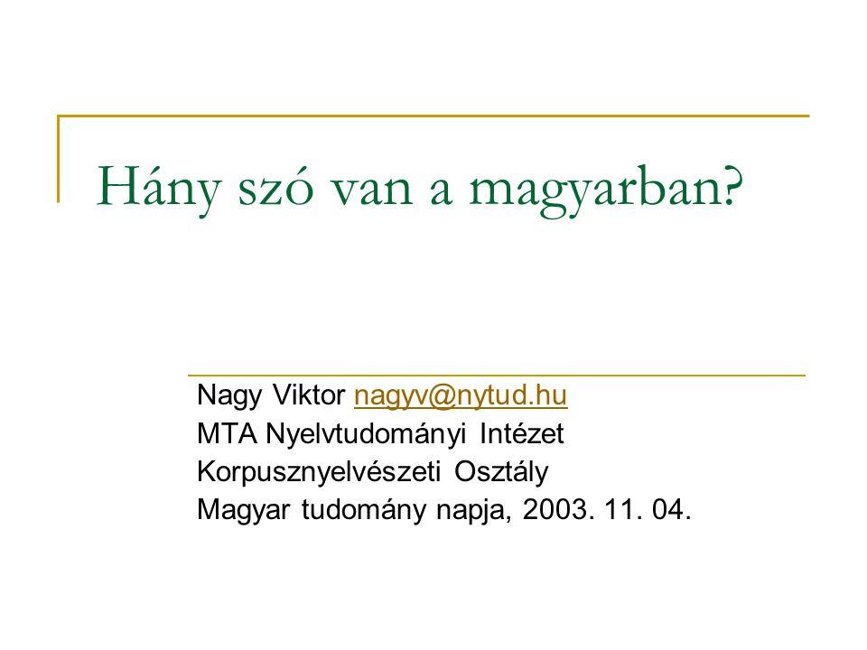 Hány szó van a magyarban