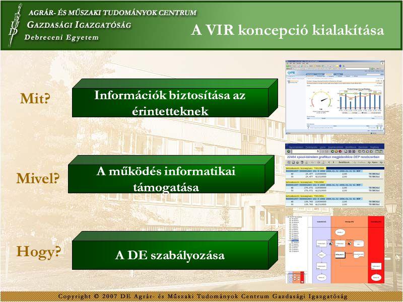 Információk biztosítása az A működés informatikai