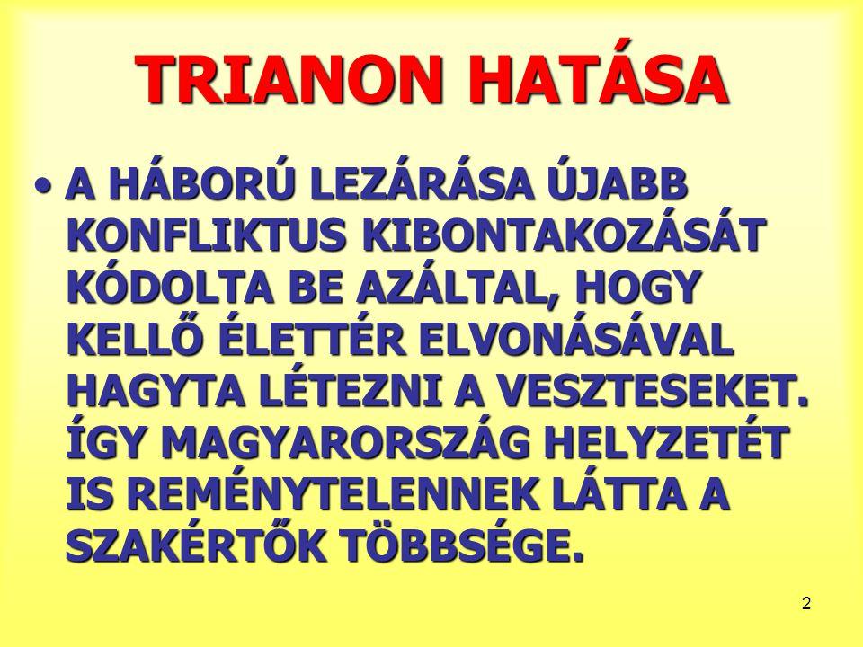TRIANON HATÁSA