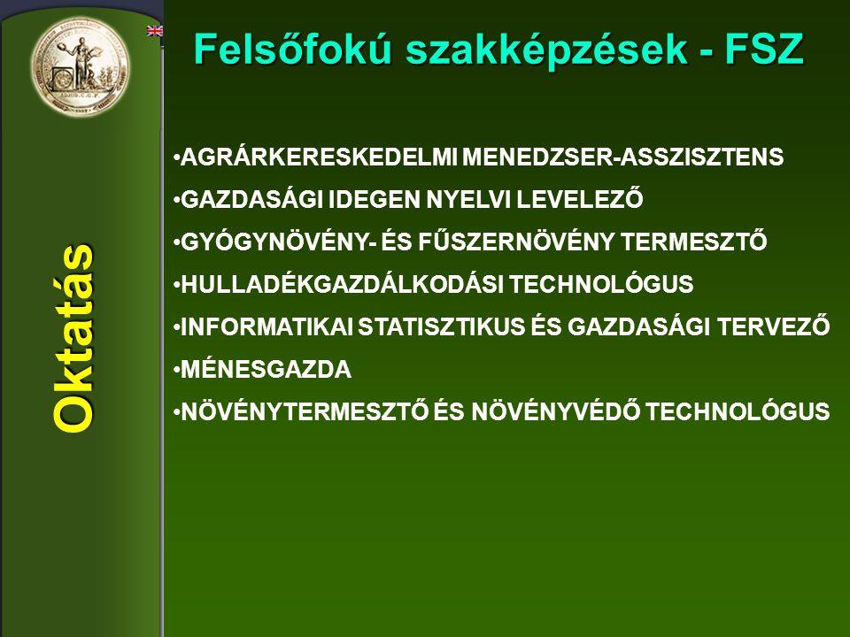 Felsőfokú szakképzések - FSZ