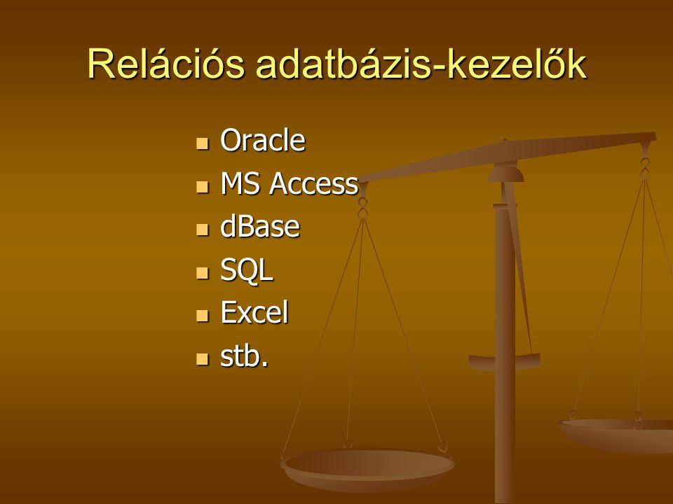 Relációs adatbázis-kezelők