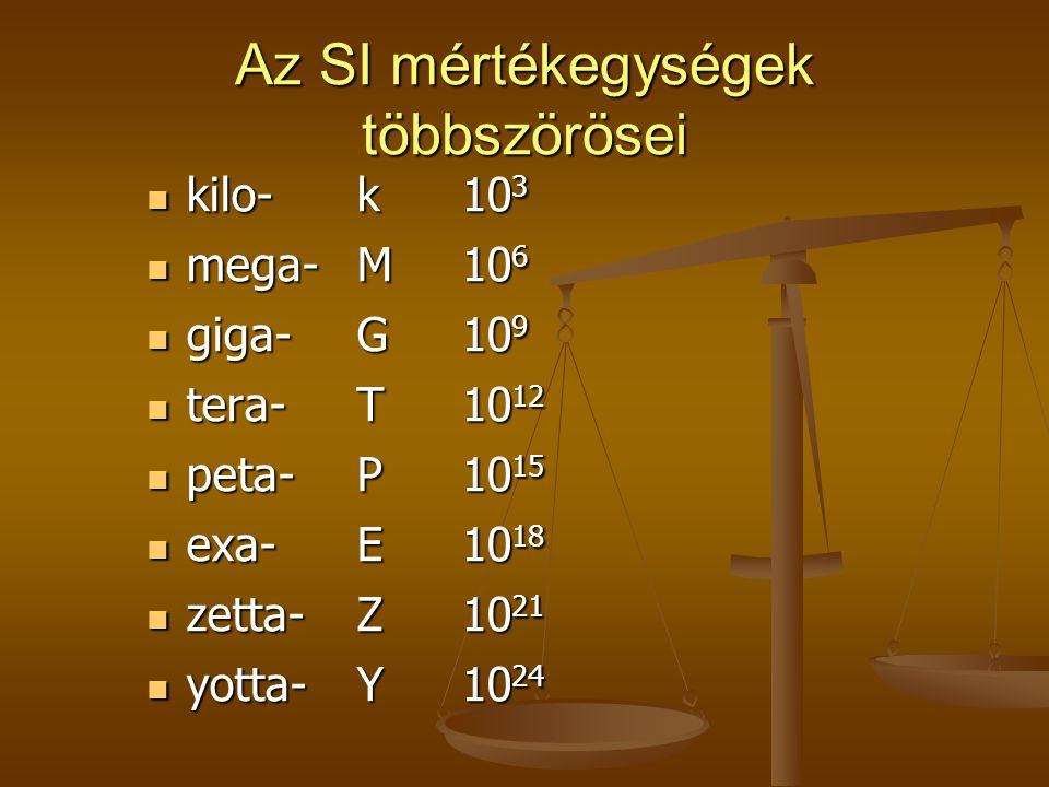 Az SI mértékegységek többszörösei