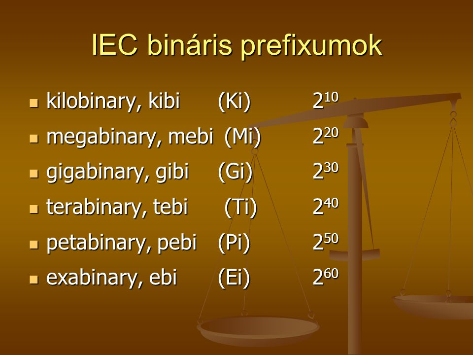 IEC bináris prefixumok