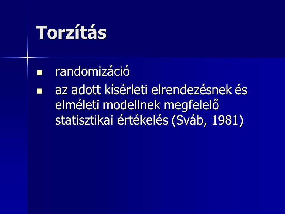 Torzítás randomizáció