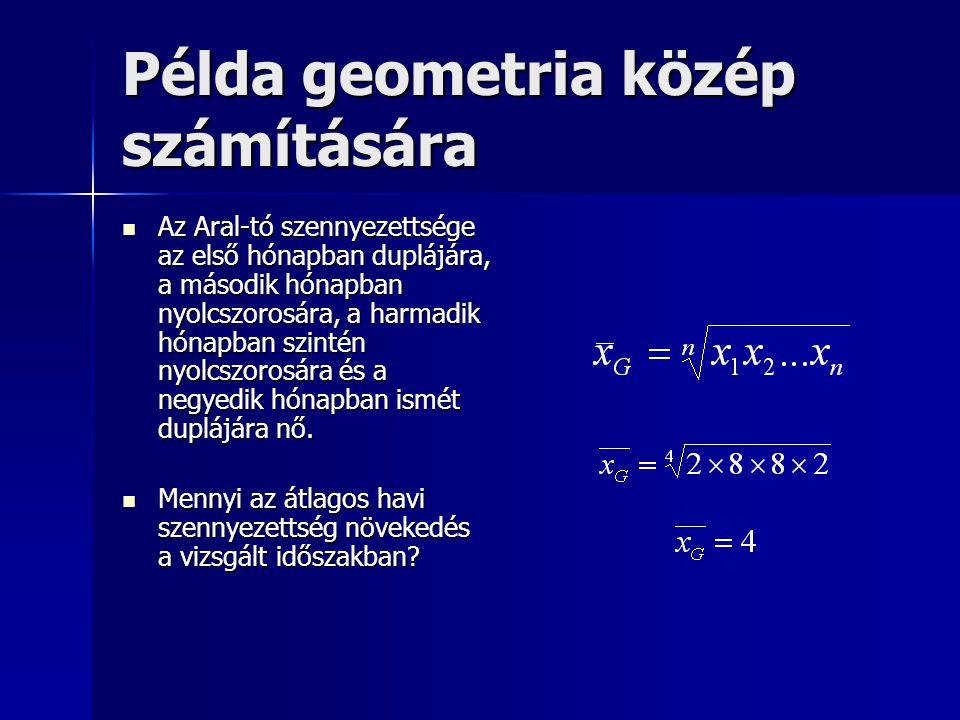 Példa geometria közép számítására