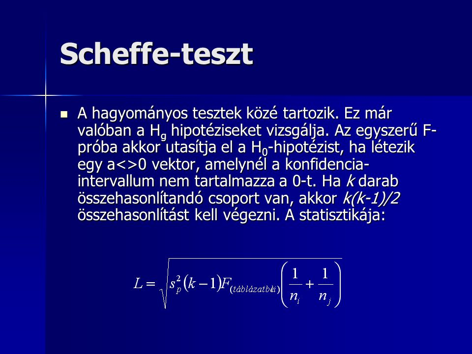 Scheffe-teszt