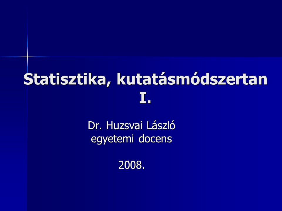 Statisztika, kutatásmódszertan I.