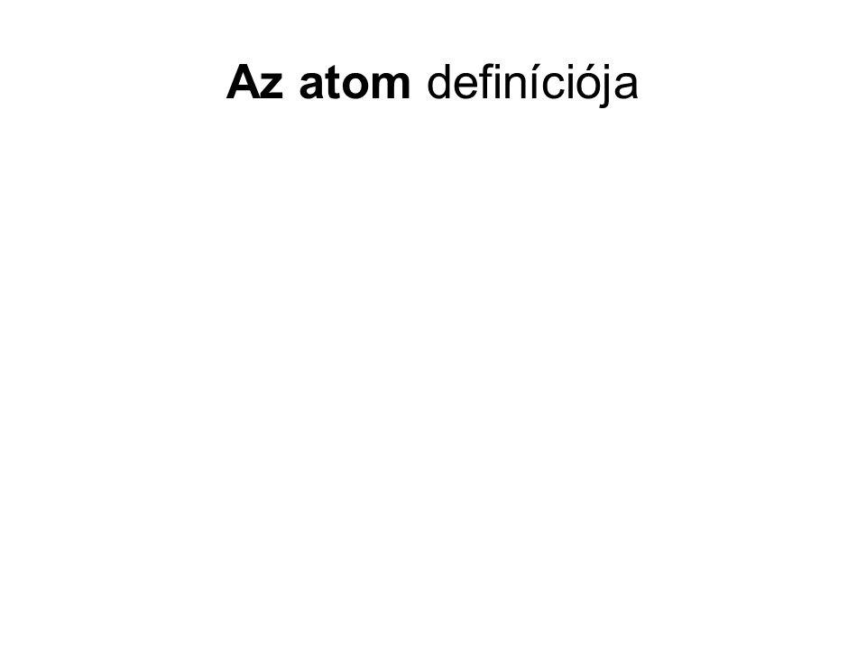 Az atom definíciója