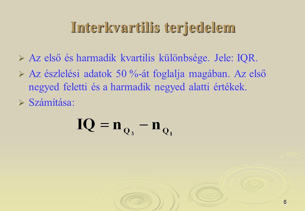 Interkvartilis terjedelem