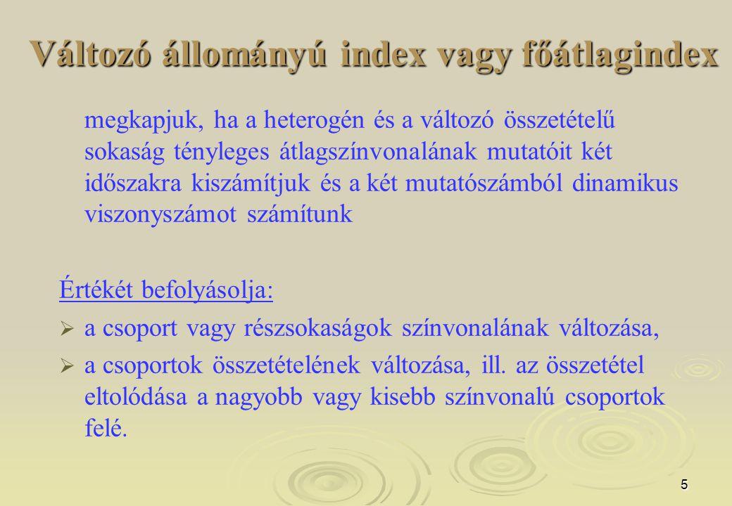 Változó állományú index vagy főátlagindex