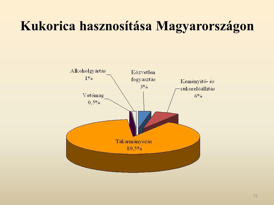 Kukorica hasznosítása Magyarországon