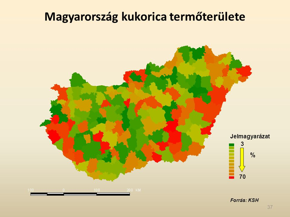 Magyarország kukorica termőterülete