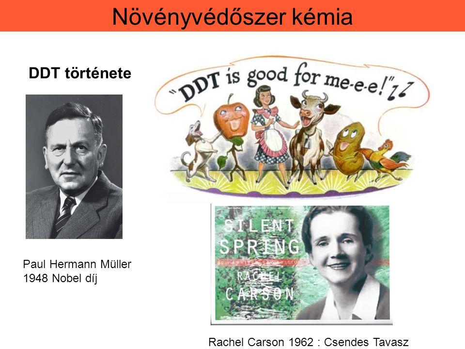 Növényvédőszer kémia DDT története Paul Hermann Müller 1948 Nobel díj