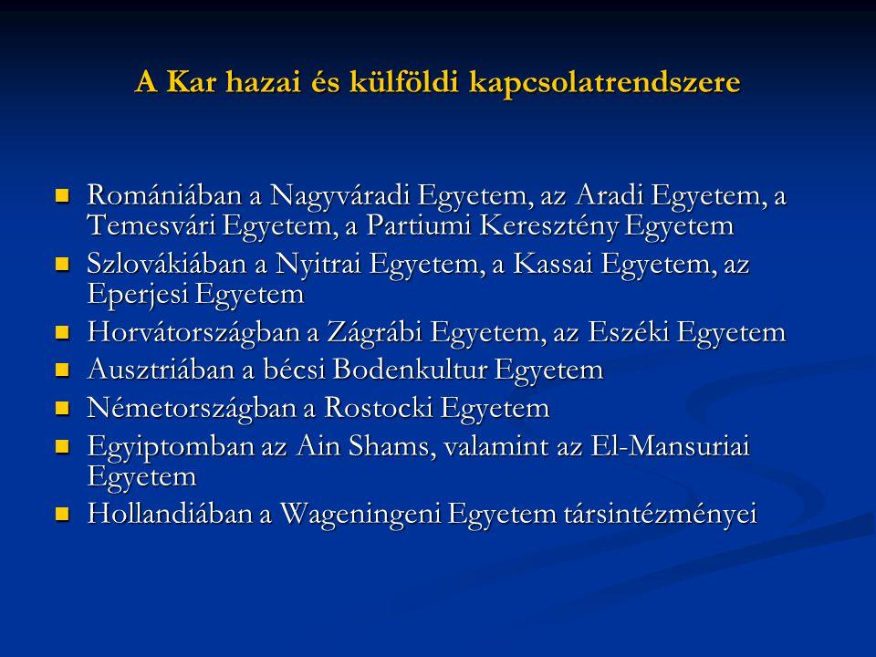 A Kar hazai és külföldi kapcsolatrendszere