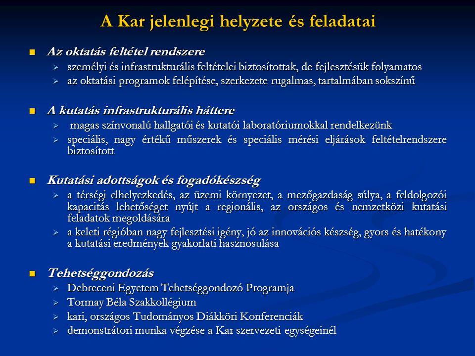 A Kar jelenlegi helyzete és feladatai